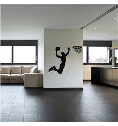 Sticker Basketteur avant un dunk