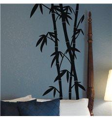 Sticker Tige et feuille de bambou