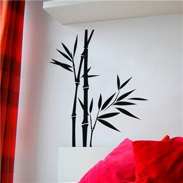 Sticker Deux tiges de bambous avec une jeune pousse - stickers bambou & stickers muraux - fanastick.com