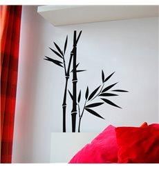 Sticker Deux tiges de bambous avec une jeune pousse