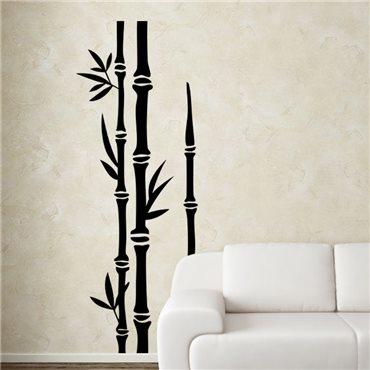 Sticker Trois tiges de bambous - stickers bambou & stickers muraux - fanastick.com