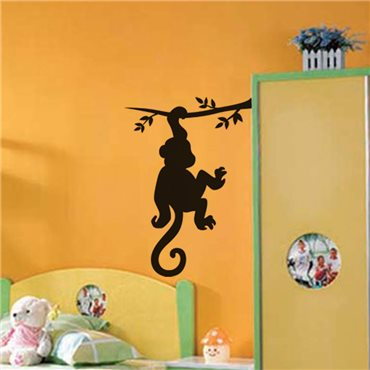 Sticker Singe sur un arbre - stickers animaux enfant & stickers enfant - fanastick.com