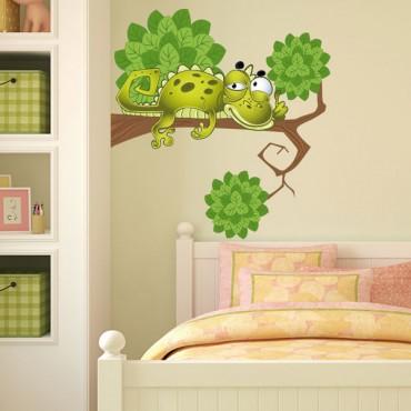 Sticker Lézard sur sa branche - stickers animaux enfant & stickers enfant - fanastick.com