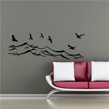 Sticker Oiseaux de mer - stickers oiseaux & stickers muraux - fanastick.com