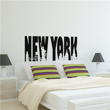 Sticker New-York artistique - stickers new york & stickers muraux - fanastick.com