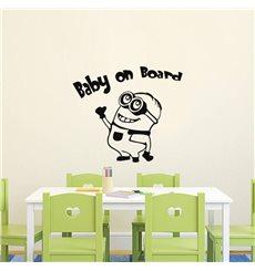 Sticker Baby on board dessin animé