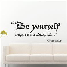 Sticker Be yourself - Oscar Wilde