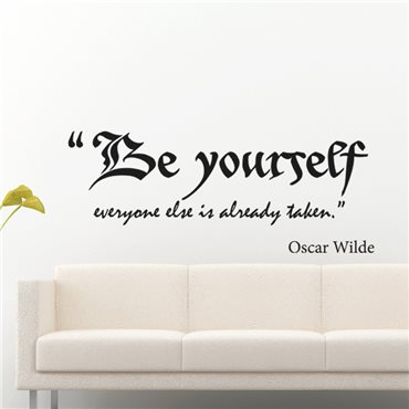 Sticker Be yourself - Oscar Wilde - stickers citations & stickers muraux - fanastick.com