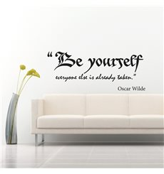 Sticker Be yourself - Oscar Wilde