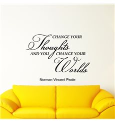 Sticker Change your thoughts - Norman Vincent Peale