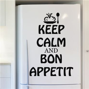 Sticker Keep calm and Bon appetit - stickers frigo & stickers muraux - fanastick.com