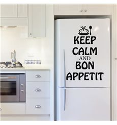 Sticker Keep calm and Bon appetit