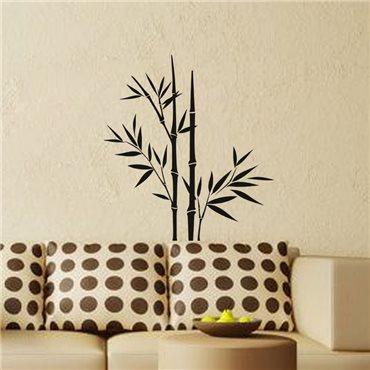 Sticker Design tiges et feuilles de bambous - stickers bambou & stickers muraux - fanastick.com