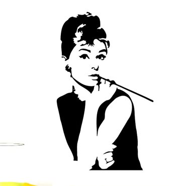 Sticker avec Audrey Hepburn - stickers personnages & stickers muraux - fanastick.com