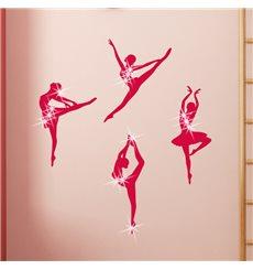 Sticker Danseurs de ballet & 15 Swarovski crystal 3mm