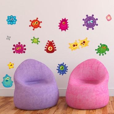 Sticker Microbes - stickers enfants & stickers enfant - fanastick.com
