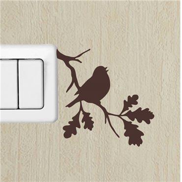 Sticker branche et l'oiseau 1 - stickers interrupteur & stickers muraux - fanastick.com
