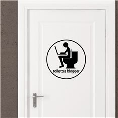 Sticker Toilette blogger