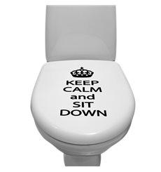 Sticker Gardez votre calme