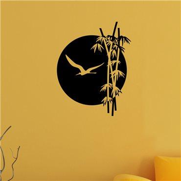 Sticker Coucher de soleil et de bambou - stickers bambou & stickers muraux - fanastick.com