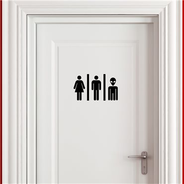 Sticker Homme, femme, humanoïde - stickers wc & stickers toilette - fanastick.com