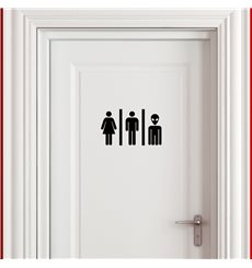 Sticker Homme, femme, humanoïde