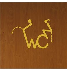 Sticker porte Figure WC 2