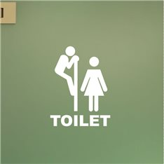 Sticker porte Figure WC 4