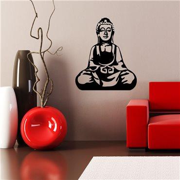 Sticker Bouddha assis - stickers zen & stickers muraux - fanastick.com