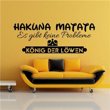 Sticker Desing Hakuna matata - stickers citations & stickers muraux - fanastick.com