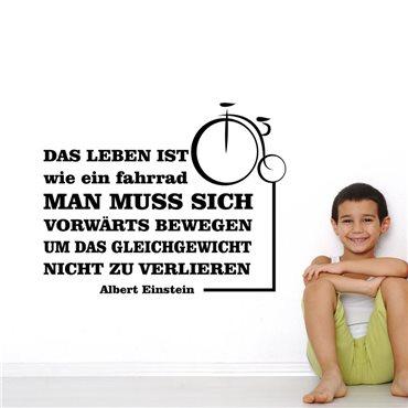 Sticker Das leben ist wie ein fahrrad - A. Einstein - stickers citations & stickers muraux - fanastick.com