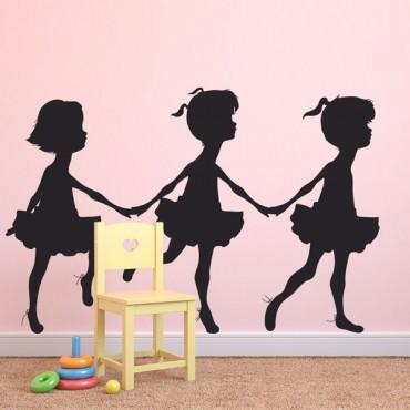 Sticker Petites danseuses - stickers enfants & stickers enfant - fanastick.com
