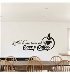 Sticker This home runs on love & coffee