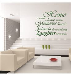 Sticker Home is where love resides