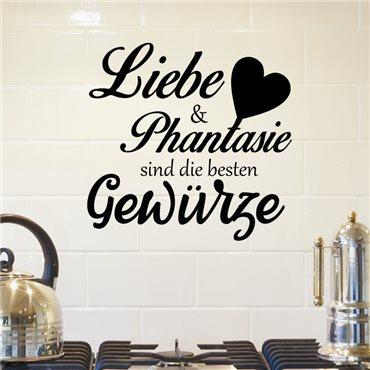 Sticker Liebe & phantaisie sind die besten gewürze - stickers citations & stickers muraux - fanastick.com