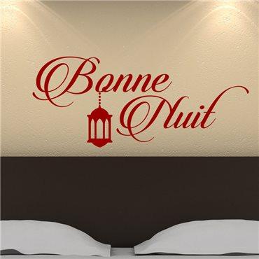 Sticker Bonne nuit avec élégance - stickers chambre & stickers muraux - fanastick.com