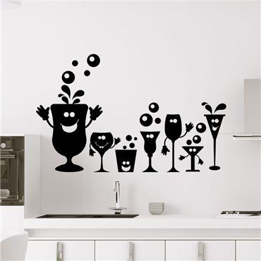 Sticker Fêtes des verres - stickers cuisine & stickers muraux - fanastick.com