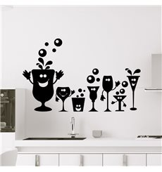 Sticker Fêtes des verres