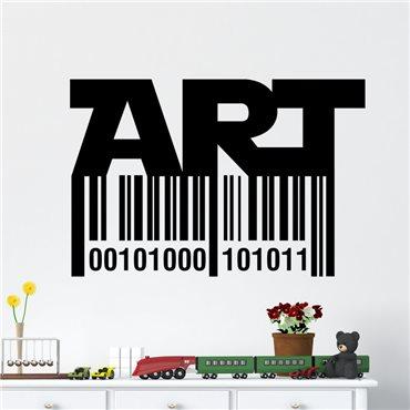 Sticker Code bar art - stickers design & stickers muraux - fanastick.com