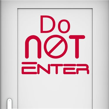 Sticker Do not enter - stickers porte & stickers deco - fanastick.com
