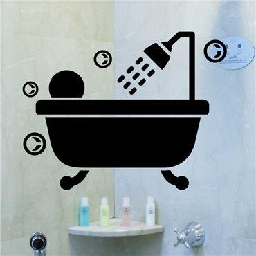 Sticker Bain bulles - stickers salle de bain & stickers muraux - fanastick.com
