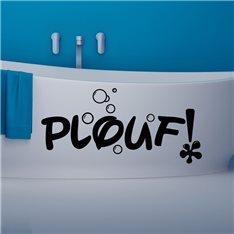 Sticker Design Plouf