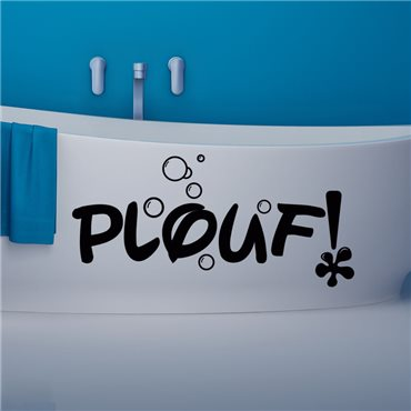 Sticker Design Plouf - stickers baignoire & stickers muraux - fanastick.com