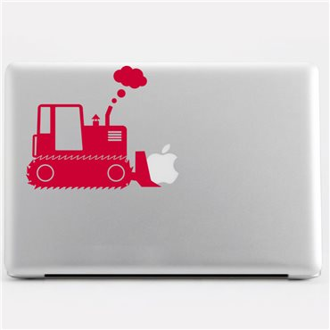 Sticker Design Bulldozer - stickers ordinateur portable & stickers muraux - fanastick.com