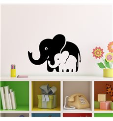 Sticker Eléphants de maman et bébé