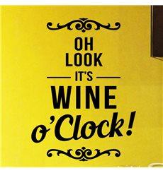 Sticker déco C'est vin o'Clock
