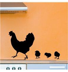 Sticker déco Poule et poulet