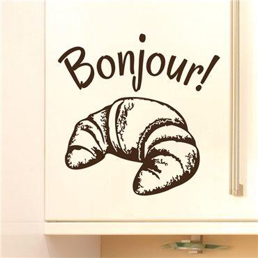 Sticker déco Bonjour - stickers cuisine & stickers muraux - fanastick.com