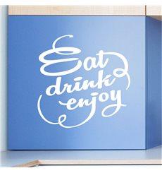 Sticker déco Manger, boire, profiter