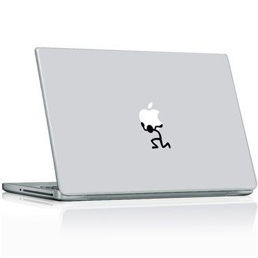 Sticker L'homme et la pomme 2 - stickers ordinateur portable & stickers muraux - fanastick.com